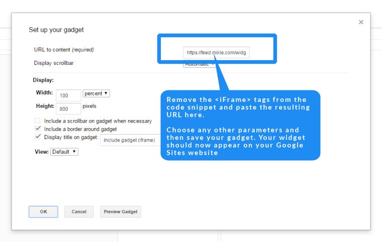 google sites rss widget