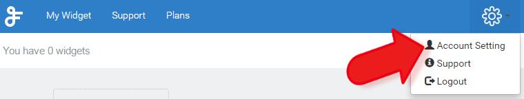 feedwind widget account settings