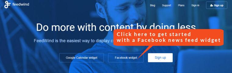 facebook news feed widget
