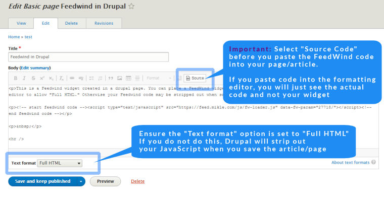 drupal rss widget