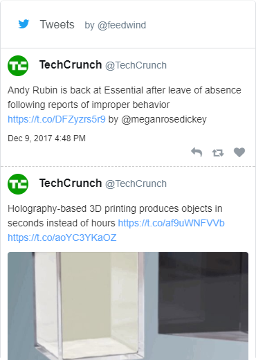 Twitter widget sample