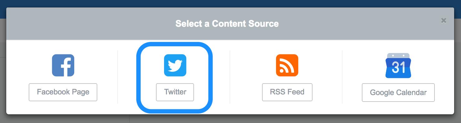 Create a Twitter widget