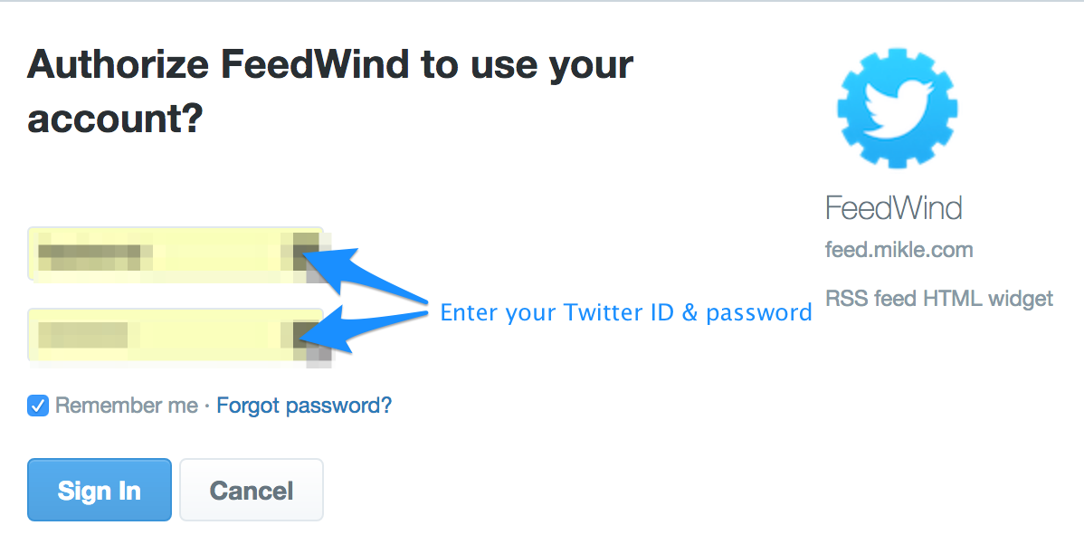 Create a custom Twitter widget with FeedWind : FeedWind Support