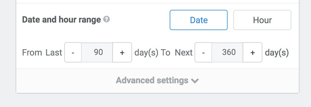 date-hour-range-settings